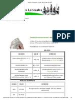 Salarios y Prestacione Sociales- Mínimo Legal- Año 2015