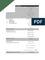 Formulario de Geometría Vectorial