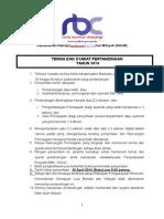 Terma Dan Syarat Pertandingan Rbc 2014