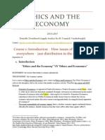 Ethics and the Economy
