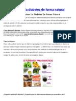 Como Eliminar La Diabetes de Forma Natural