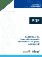 Prueba de Matematica - Grado 5 Calendario b, 2009