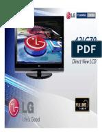 LG Flat TV 42LG70 Manual de Entrenamiento
