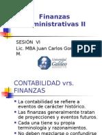 Finanzas Administrativas II, Semana VI