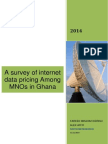 A Survey of Internet Data Pricing Among MNOs in Ghana