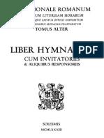 Liber Hymnarius (Praenotanda)