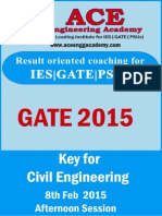 GATE 2015 CE SET 2 8th Feb Afternoon Session Answer