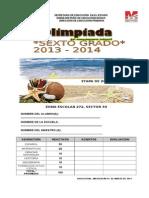 Examen Zona 272 Lázaro Cardenas, Mich.13-14