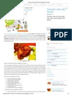 Resep Cara Membuat Ayam Panggang Oven Madu