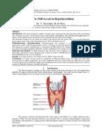 T3, T4, TSH Levels in Hypothyroidism