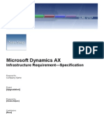 Infrastructure Requirements for AX 2012