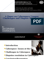 cyberspace_usages_challenges_and_dispute_resolution.ppt