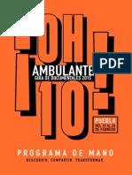 Programa de Mano, Ambulante Puebla