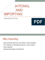 International Trade and Importing