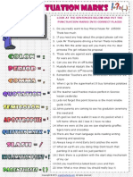 Punctuation Marks Rules Worksheet-12 Feb