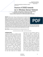 Significance of DSSD towards Cut Detection in Wireless Sensor Network