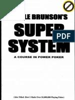 Doyle Brunson's Super System - A Course in Power Poker (Doyle Brunson)