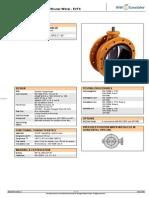 68114866 EUROVALVE Valvula Borboleta Com Flanges Iso5752 Concentric a Serie Evfs