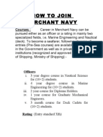 How to Join Merchant Navy-I