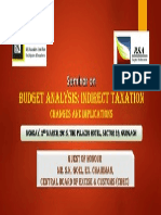 Seminar on Budget Analysis