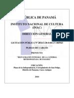 PLIEGO CATEDRAL METROPOLITANA DICIEMBRE 2015
