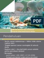 Uterine Rupture After Previous Caesarean Section
