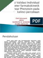 parameter farmakokinetik Non-Linear Phenytoin pada kelinci percobaan