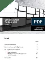 CampaignCheck Case-Study TV-Gerät UHD