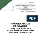 Programa Pregatire Lucrator Constructii