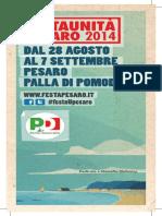 FESTA UNITA' PESARO 2014 | Il libretto