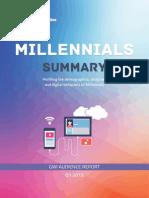 Estudio Millennials Summary Q1 2015