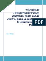 Control gestión pública  y normas de transparencia