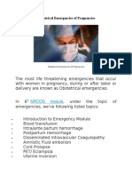 Obstetrical Emergencies of Pregnancies