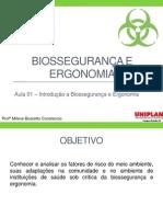 Aula 01 - Introdução à Biossegurança e Ergonomia