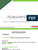 Aula 1 - Introdução a Técnica Dietética - Adaptada Por Milene