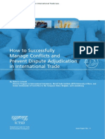 How to Successfully Manage Conflicts and Prevent Dispute Adjudication in International Trade