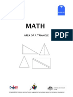 Math 4 Dlp 85 - Area of a Triangle