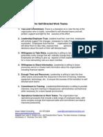 Success Factors for SDWT