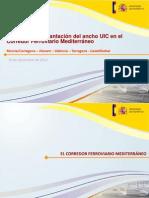 Propuesta de reforma del Corredor Mediterráneo 2013