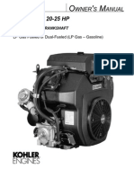 Kohler Command 20 to 25 Owners Manual