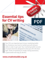 Creative Toolkit Cv Writing a4