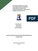 Modelo Plano de Projeto de SW OO - Gerenciamento de Clientes