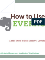 How to Use Evernote by Brian Joseph Gannaban