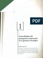Generalidades de Los Presupuestos Capitulo 01 Del Libro de Jorge Burbano Los Presupuestos