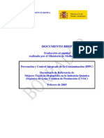 Bref Química Orgánica de Gran Volumen de Producción Versión en Castellano en Edición
