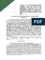 """Acción de Inconstitucionalidad Contra La Ley Nº 27302005 """"Que Expropia 52694 Has 4149 m2 de Inmuebles Situados en Los Departamentos de Alto Paraguay y Presidente Hayes"""