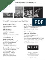 Duke University Press program ad for the International Association for the Study of Popular Music conference 2015