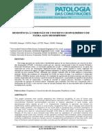 Resistência à Corrosão de Concreto Geopolimérico de Ultra-Alto Desempenho