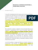 Modificación Sistema Penal Acusatorio 2014