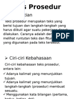 Teks Prosedur